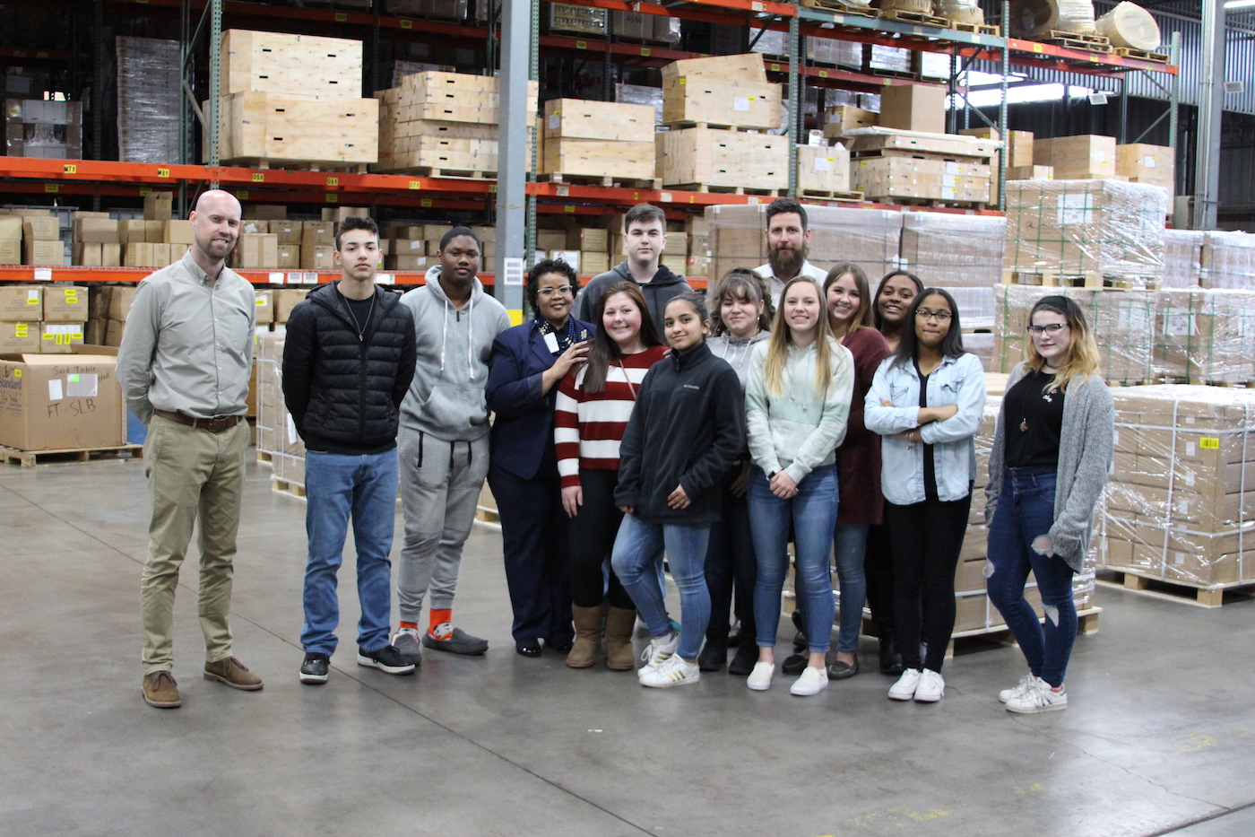 Career Readiness Academy Students Visit Evans Distribution Systems