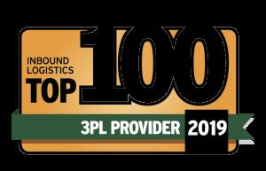 Inbound Logistics Top 100 3PL Provider 2019 Logo