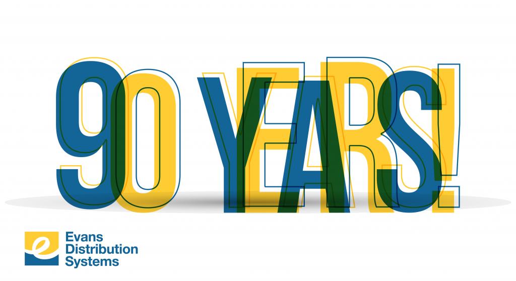 90 years graphic